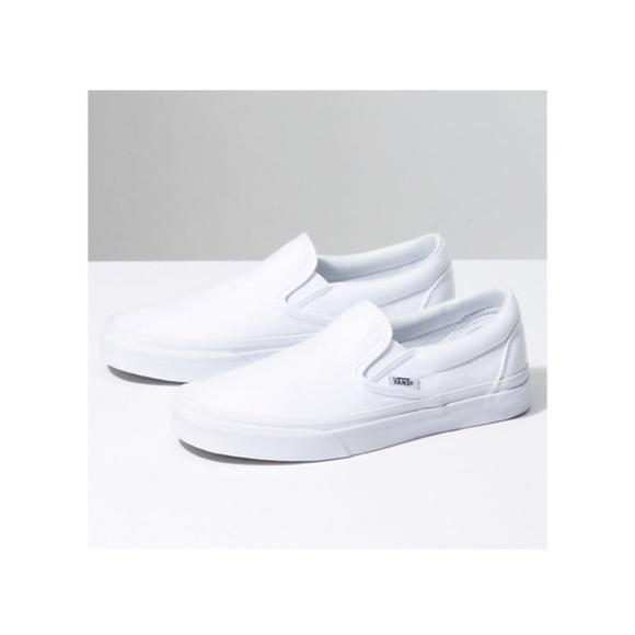 Vans Shoes   White Slip On Vans Womens